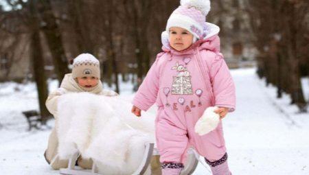 Zimnjaja odezhda dlja godovalyh malyshej