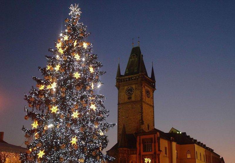 vstrecha Novogo goda v Prage